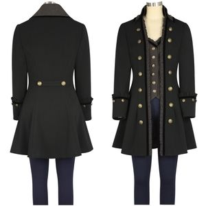 Jackets & Blazers - Gothic Plus Size Steampunk Trench Coat Jacket